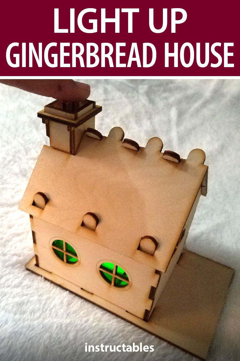 Light Up Gingerbread House Gingerbread house