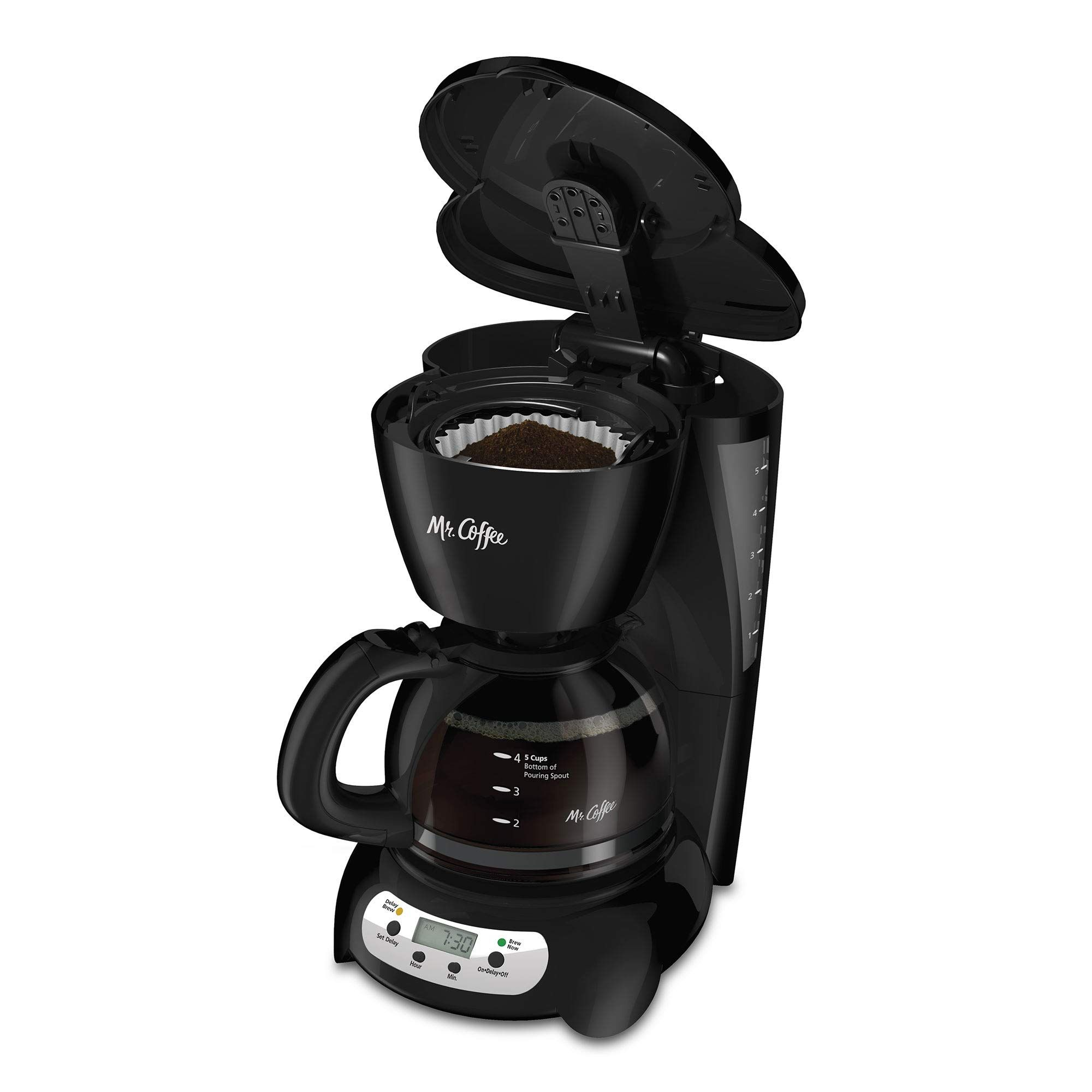 Mr. Coffee Programmable Drip Coffee Maker 5 Cup Black