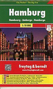 Freytag Berndt Stadtplan Hamburg City Pocket Stadtplan 1 10 000