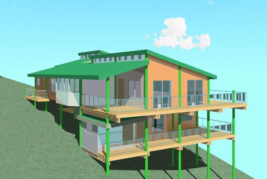Pole Frame Houses | Houses - upward slope design | Pinterest ...