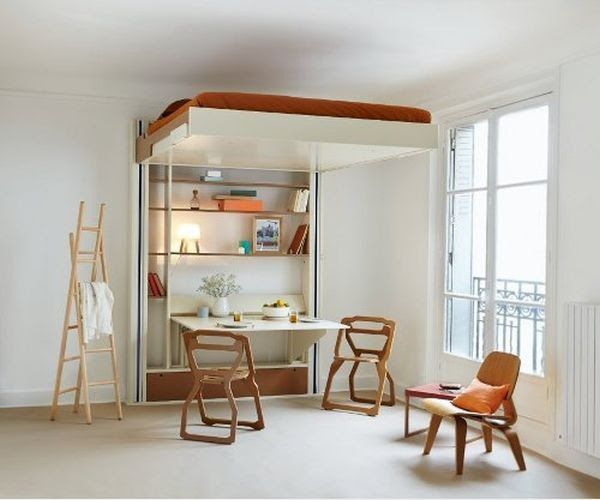 Mobili Loft ~ The mobile loft bed from french company espace loggia rises to