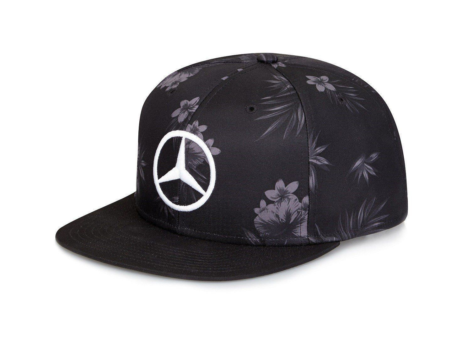 Men's Mercedes Benz Lewis Hamilton Formula One Racing Snapback Hat - Black / White