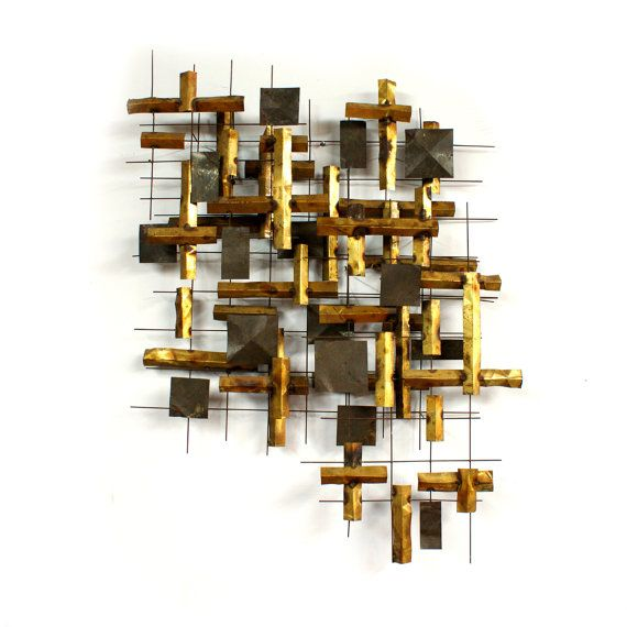 Sale Large Brutalist Abstract Metal Wall Sculpture Mid Century Etsy Wall Sculptures Metal Walls Metal Wall Sculpture