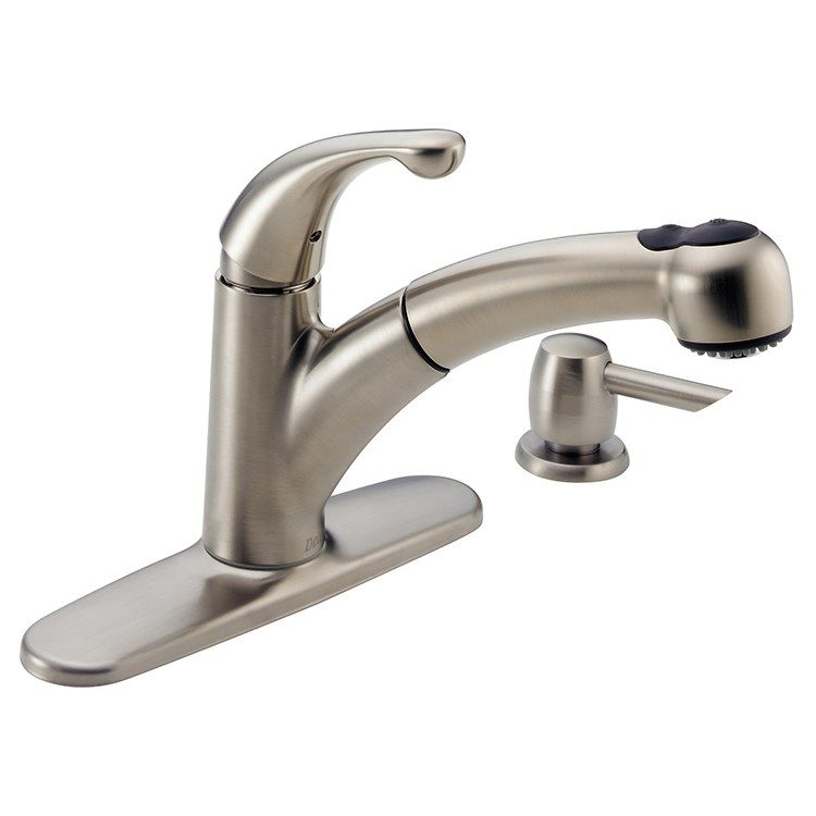 Delta 467 Sssd Dst Palo Single Handle Pull Out Kitchen Faucet With