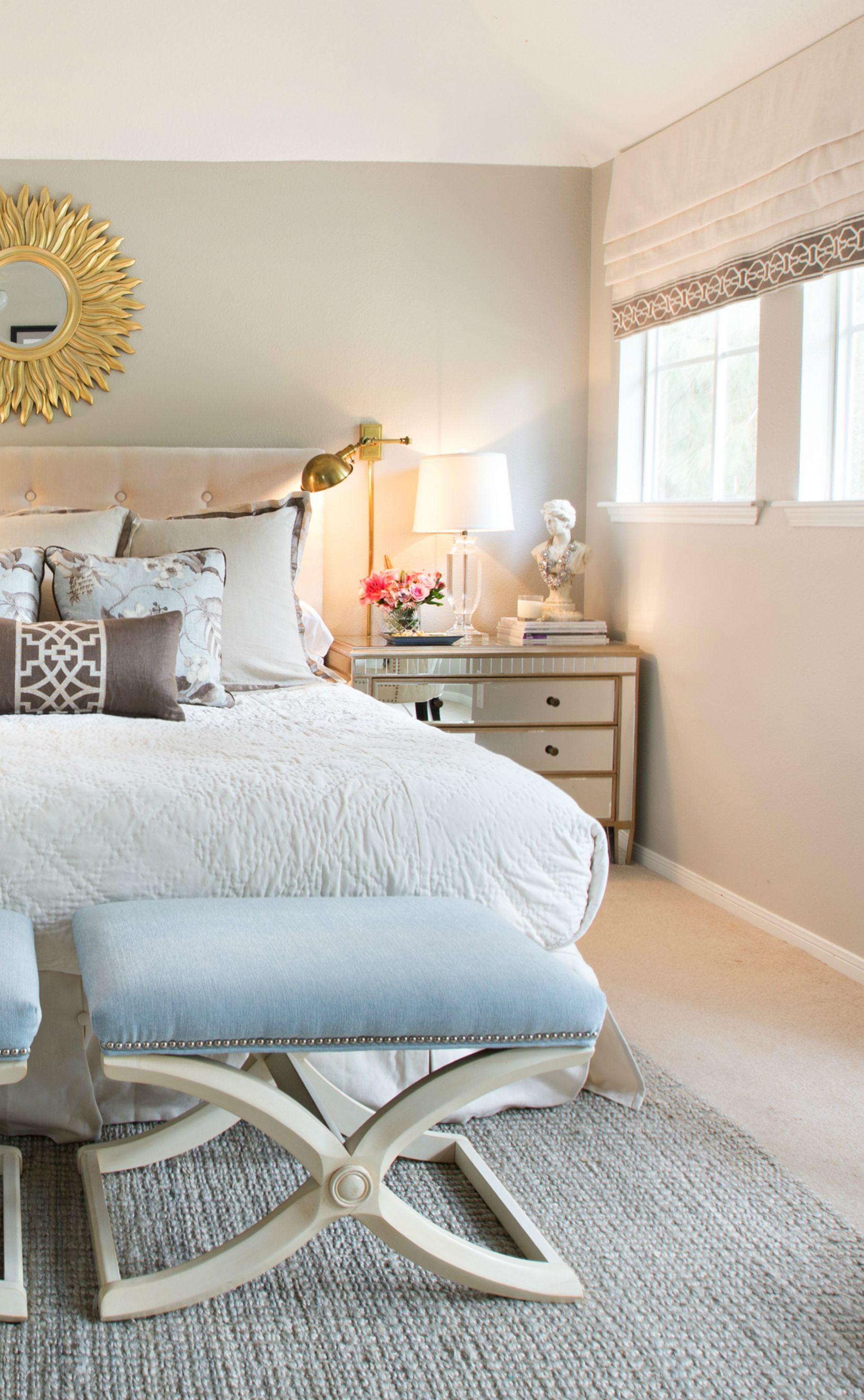 Amanda Carol Interiors Mirrored nightstand Schumacher Mary