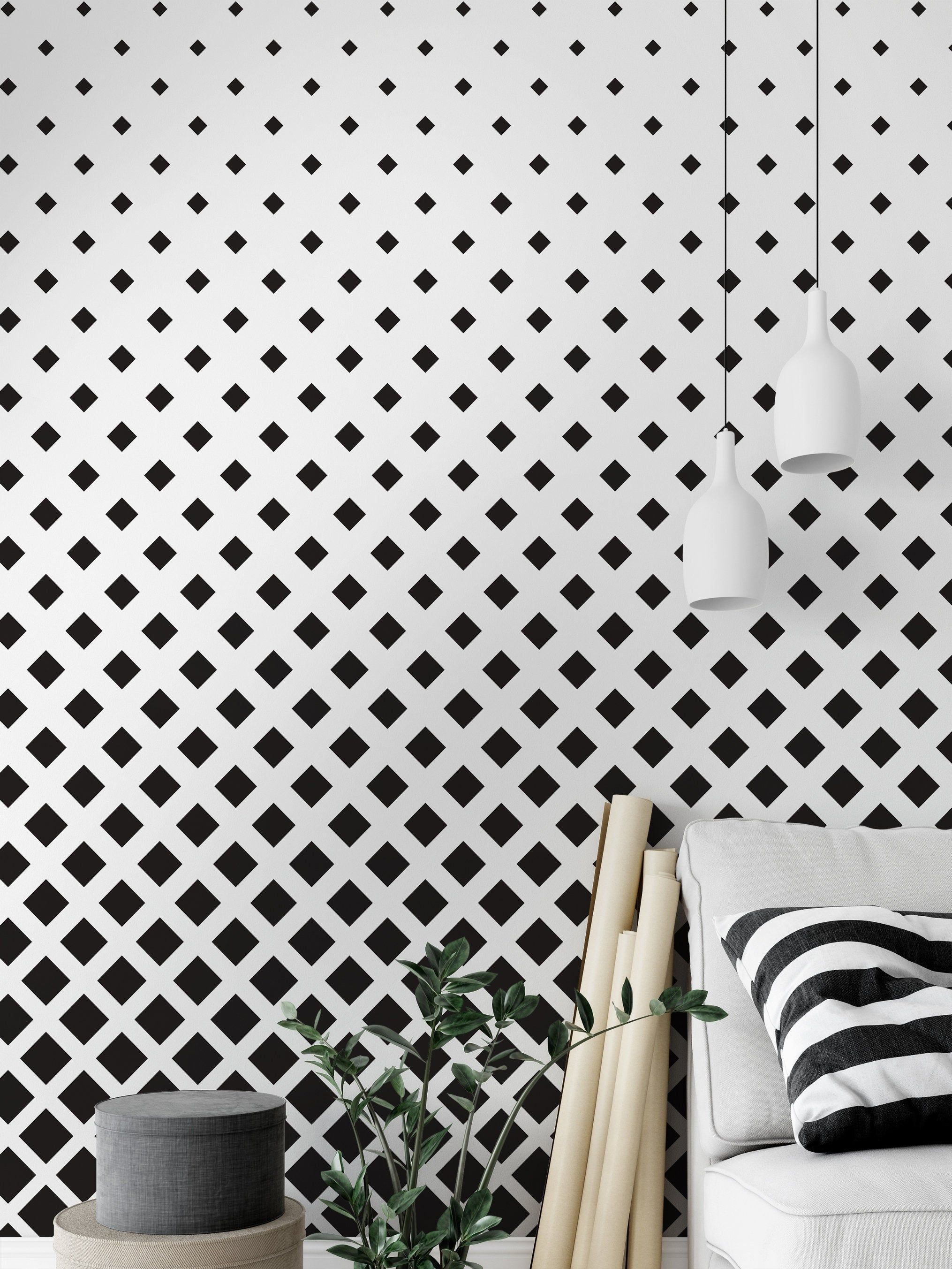 Black White Moroccan Design Removable Wallpaper Peel And Etsy Moroccan Design Moroccan Wallpaper Removable Wallpaper