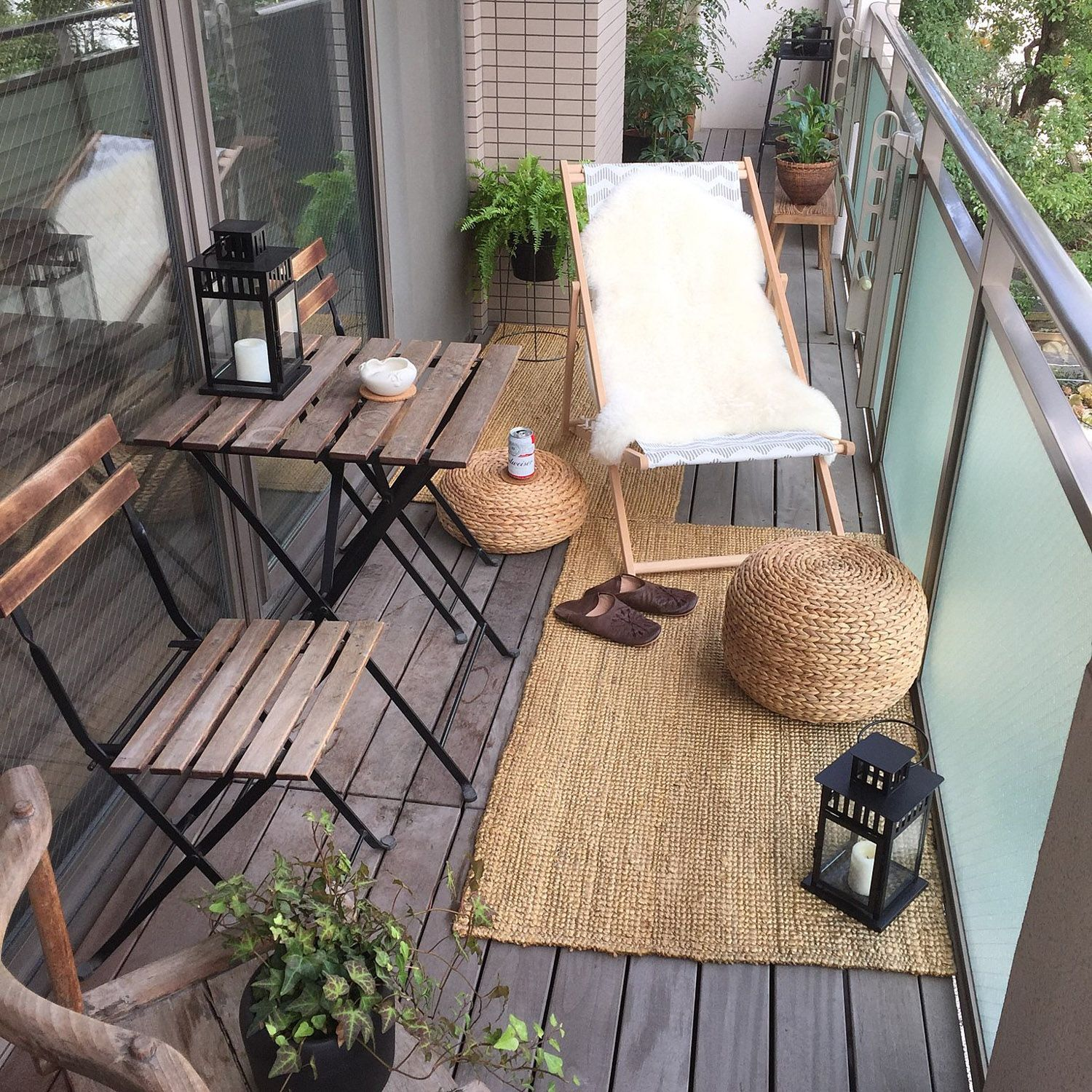 Inspiration for Small Apartment Balconies in the City -   15 plants Balcony house ideas