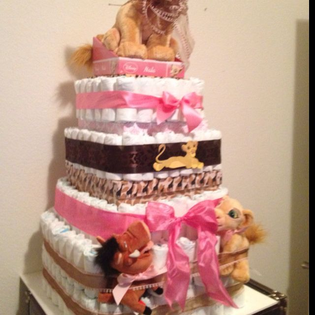 Lion King Diaper Cake Want This For My Next Babys Theme Boy Or