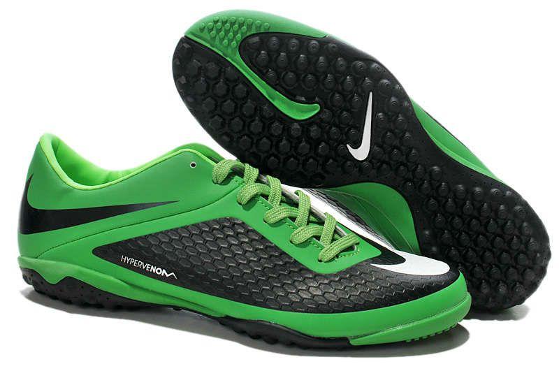 Best Nike Hypervenom Phelon Turf Soccer Shoes Sale Black Green White