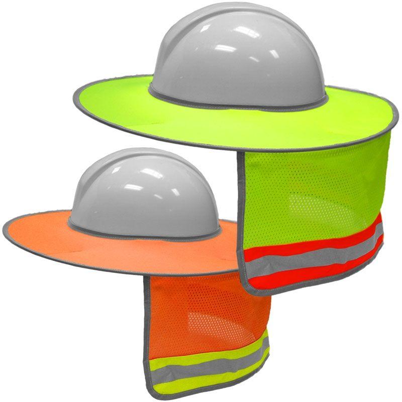 6dc93502036652 ML Kishigo 2873/2874 Enhanced Visibility Full Brim Hard Hat Sun Shield
