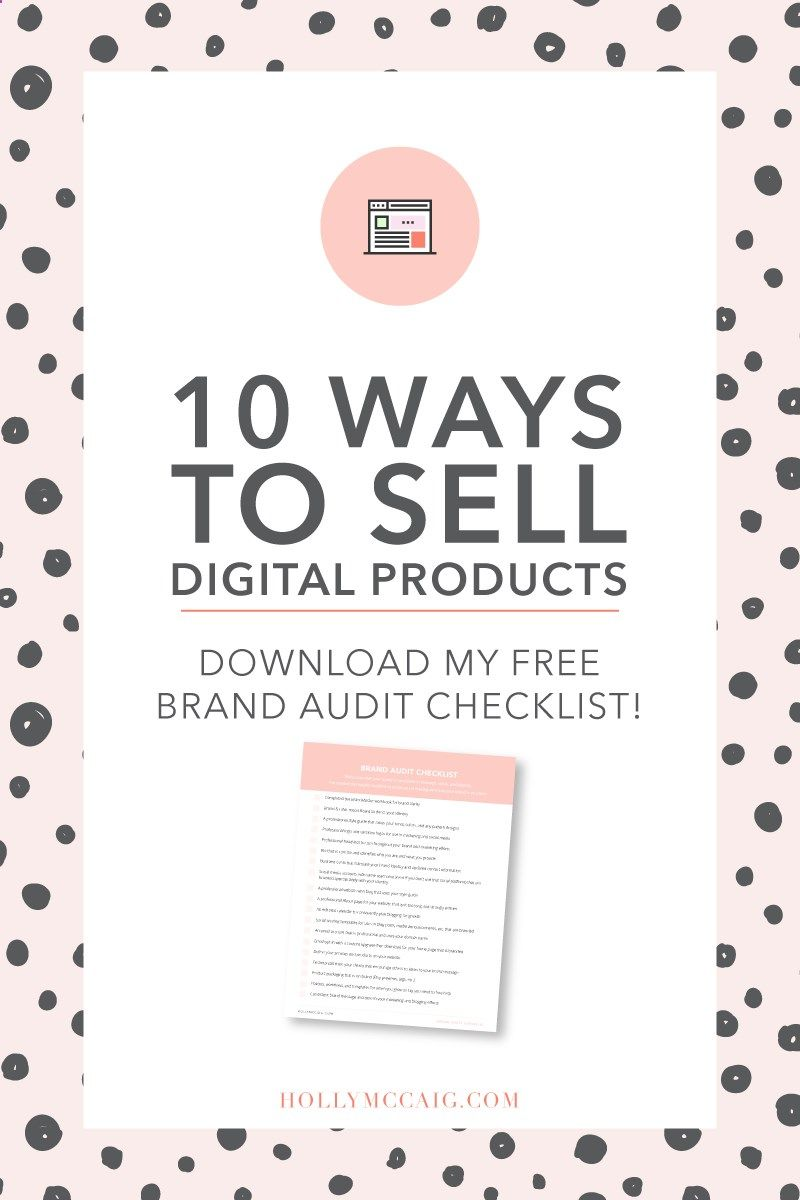 Are you selling a digital product? Looking for convenient ways to give it to your audience? Check out this post where I share 10 ways to sell a digital product! Plus download my free brand audit checklist. hollymccaig.com/...