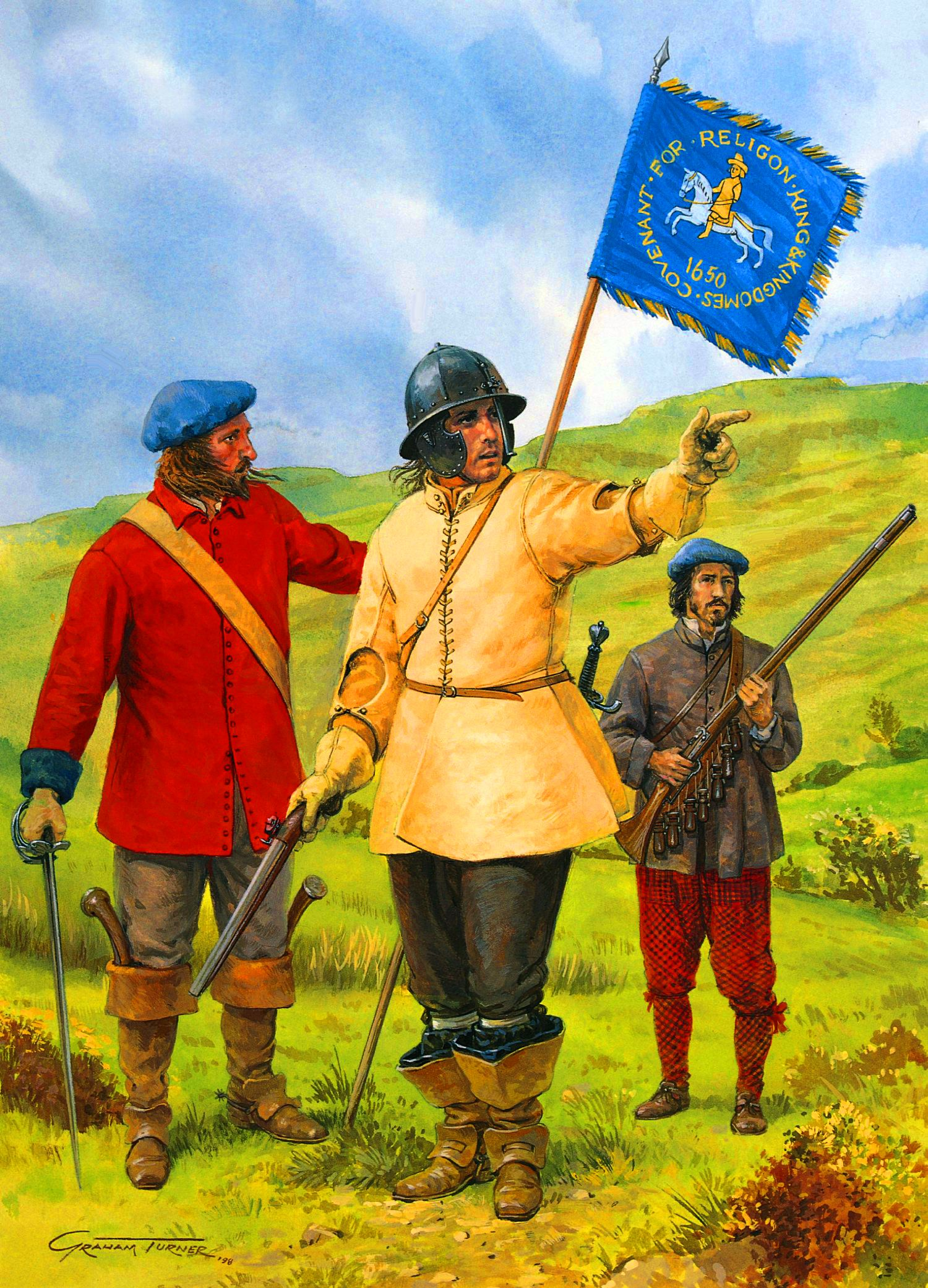 Captain augustine and the scottish moss troopers of the