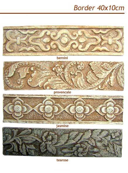 border tile bathroom | Pesamuan Bali Ceramic Art House tile rustic ...