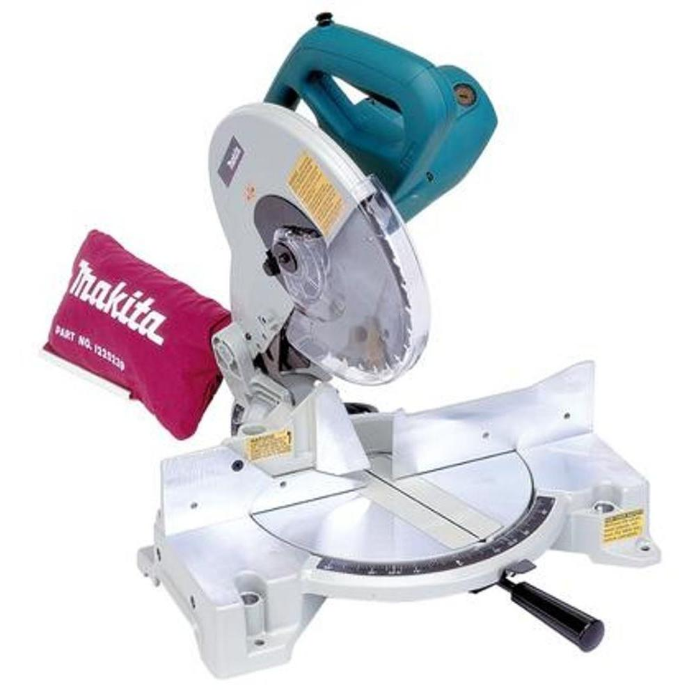 Makita 15 Amp 10 In Corded Compact Single Bevel Compound Miter Saw With 40t Carbide Blade And Dust Bag Compound Mitre Saw Miter Saw 10 Inch Miter Saw