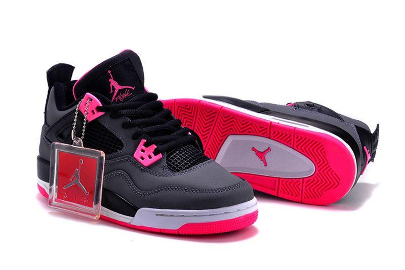 size 40 097fd 3e3c5 New Air Jordan 4 GS Hyper Pink Shoes For Women