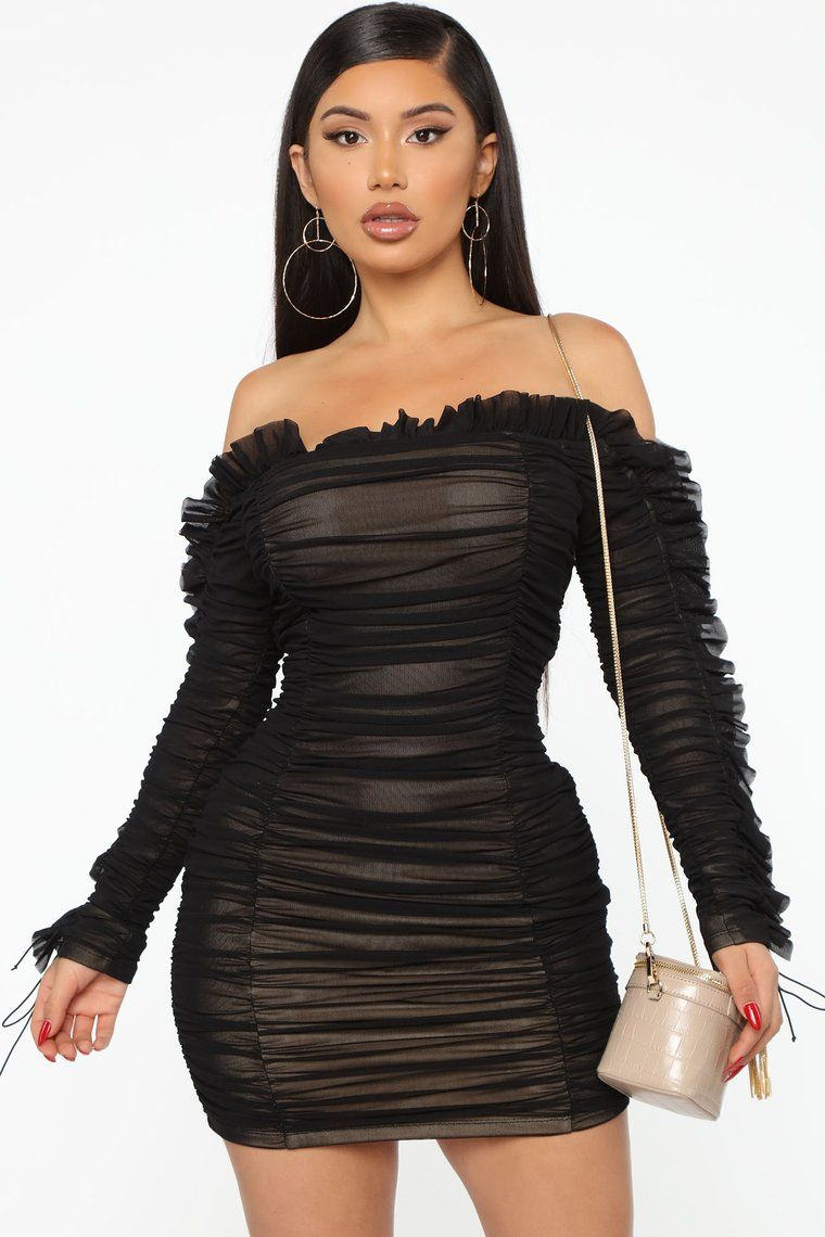 Sincerely Yours Ruched Mini Dress in 2020