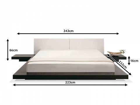 king platform bed frame japanese. Brilliant Japanese Wooden Bed Japan Style  180x200 Cm Super King Size With Side Tables To Platform Frame Japanese