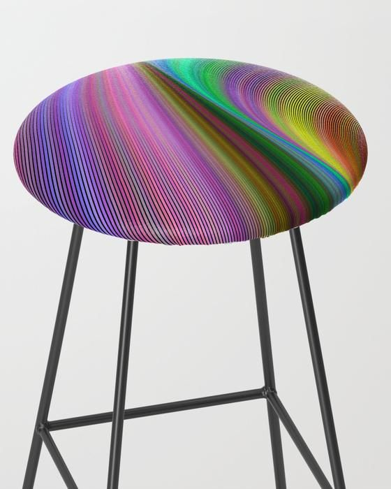 rainbow dream bar stool rainbow dream fantasy stool barstool home decor stools Rainbow Dream Bar Stool #rainbow #dream #fantasy #stool #BarStool  #furniture #homedecor #bar #home #kitchen #Society6 #art