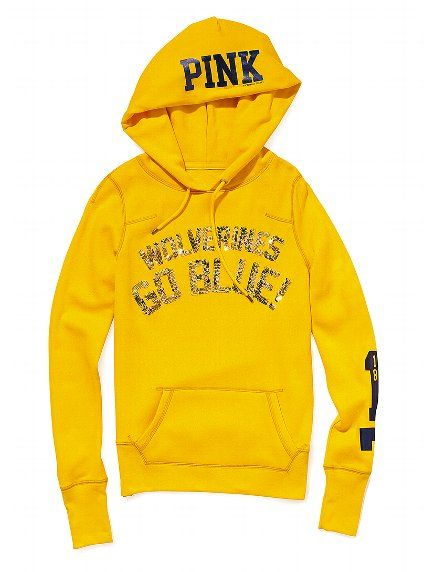 85f7d35fe12 University of Michigan Bling Pullover Hoodie - Victoria's Secret Pink® - Victoria's  Secret - If it wasn't so expensive I'd buy it!