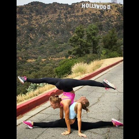2 person yoga poses rybka twins