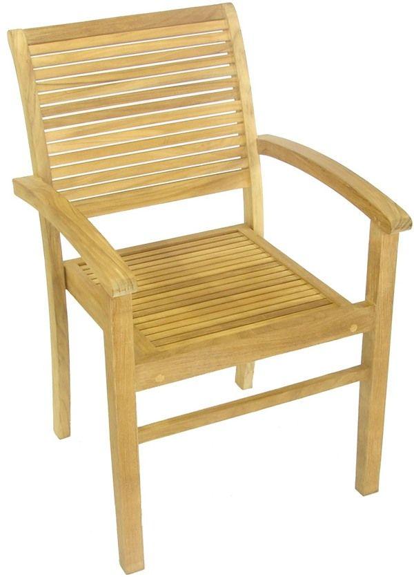 Hamilton FSC Teak Garden Furniture Set - 4 Stacking Chairs - Hamilton FSC Teak Garden Furniture Set - 4 Stacking Chairs Garden