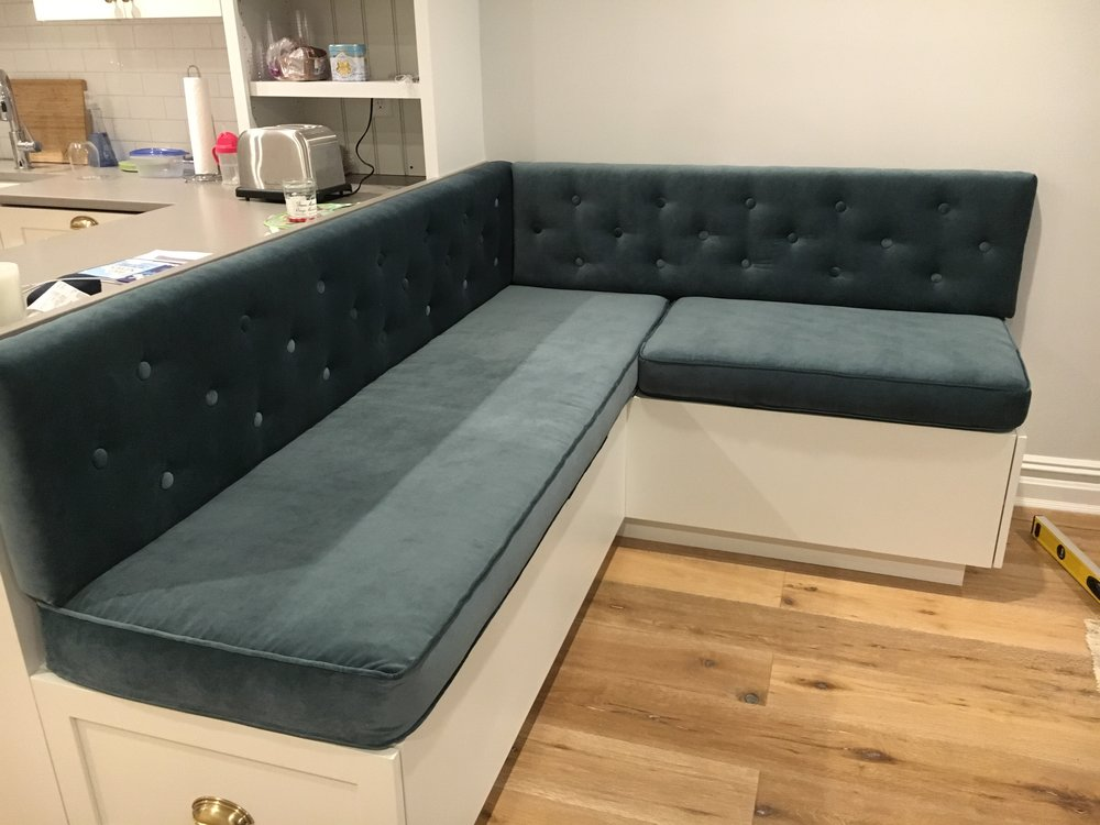 Custom Banquette Cushions ... (With images) | Banquette ...