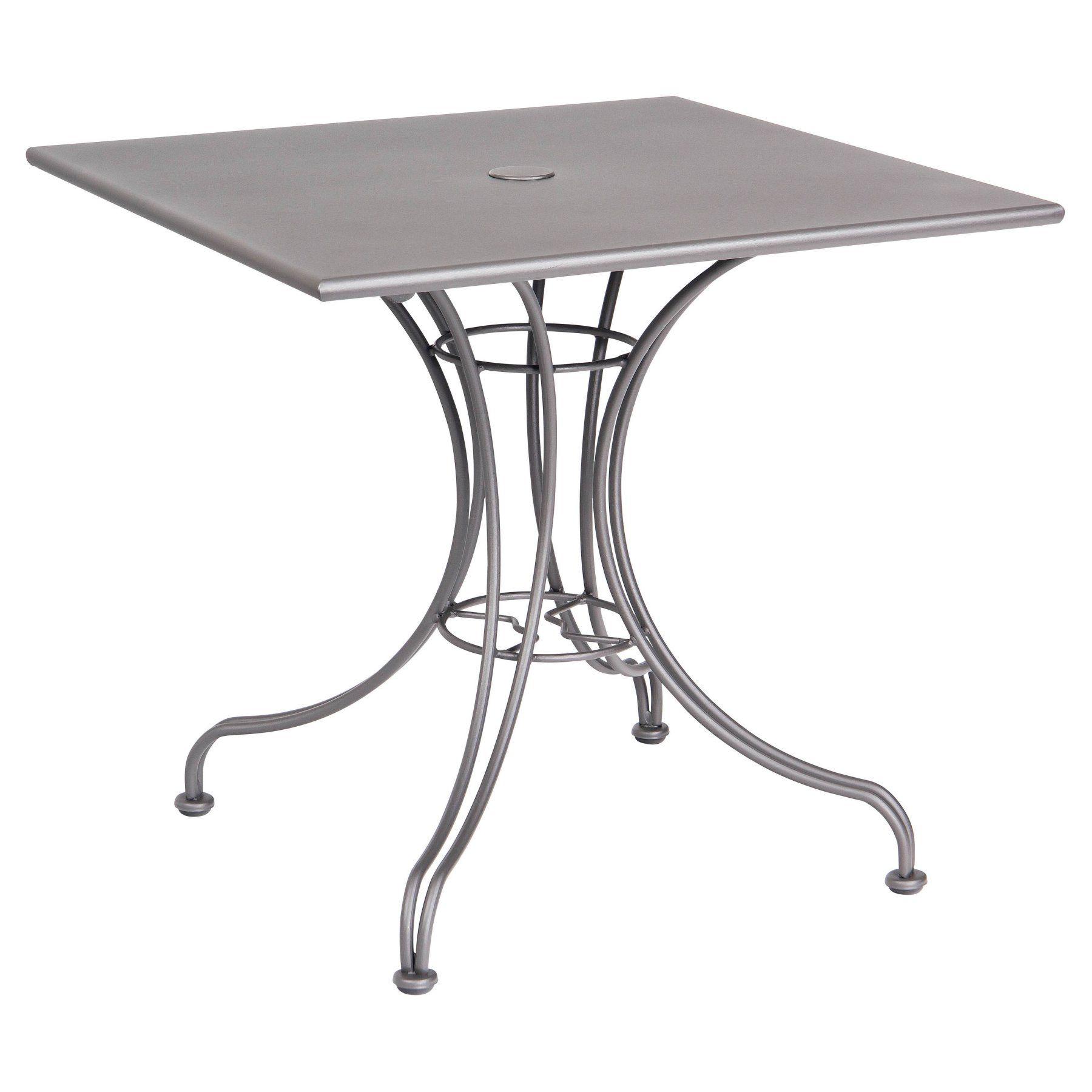 Outdoor Woodard Solid Top 24 X 30 Rectangular Bistro Table