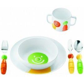 Service Enfant Billo orange et vert Guzzini 26.90 € livré gratuitement dans le relais colis de votre choix !