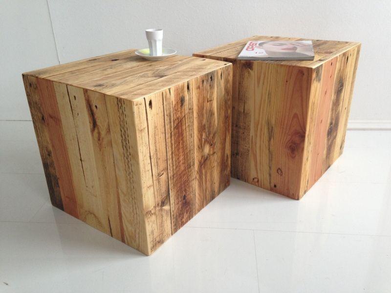 2er Set, Würfel Aus Palettenholz, 100 % Recycling Von ProduktWerft Auf  DaWanda.com