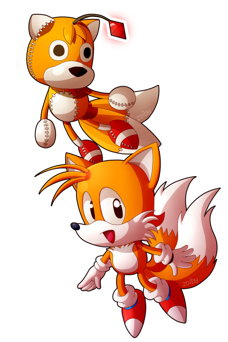 Tails Doll And Tails By Zoiby On Deviantart Tails Doll Doll Drawing Sonic Fan Art