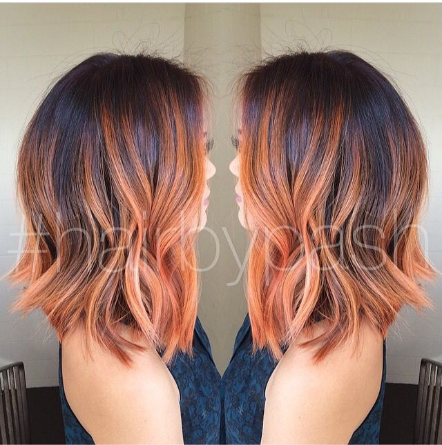 soft brown to peach balyage hair pinterest cheveux. Black Bedroom Furniture Sets. Home Design Ideas