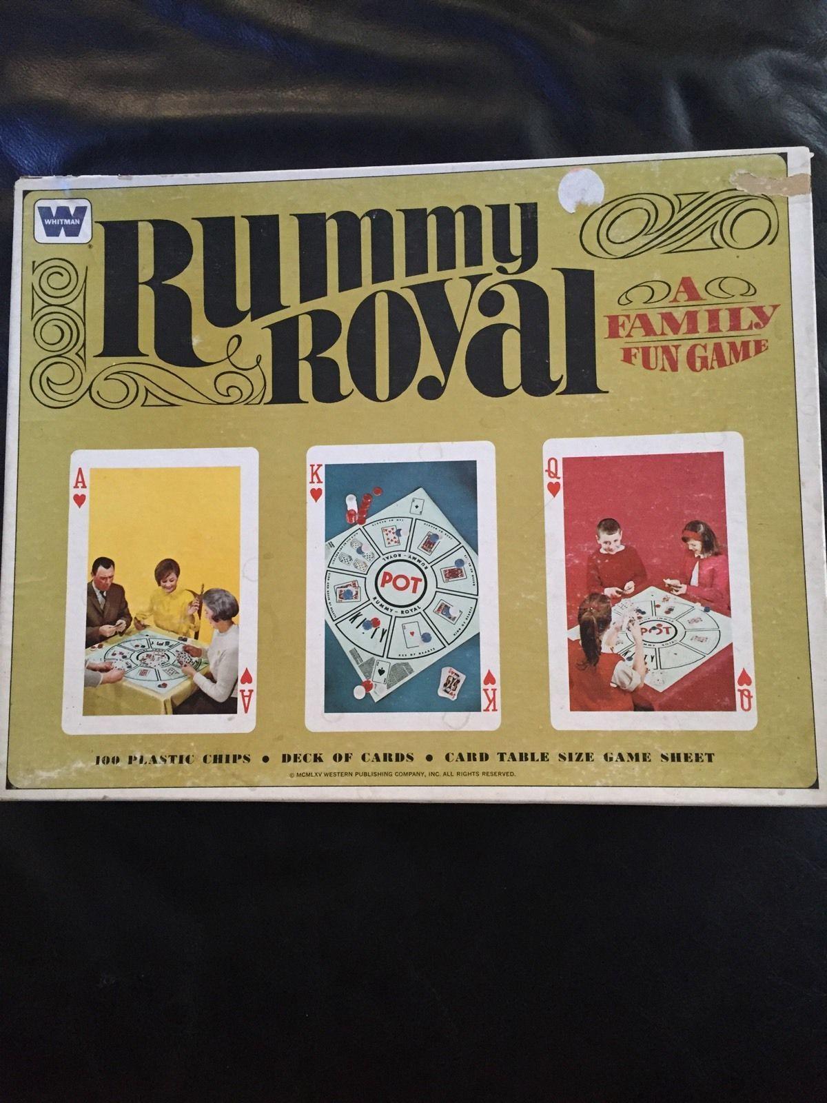 Rummy Royal Original Board Game 1965 eBay Rummy royal