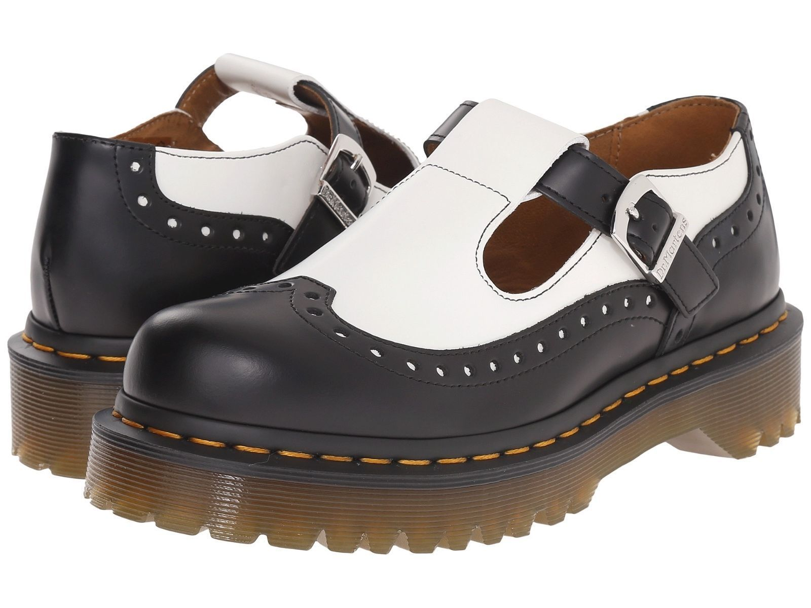 d68de39c272 Dr. Martens Women`S Demize Mary Jane Bethan Aggy Style Brogue T Bar All  Sizes