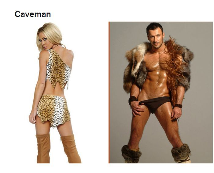 Caveman Dress Up Ideas : Straight women vs gay guys halloween costumes 19 pics