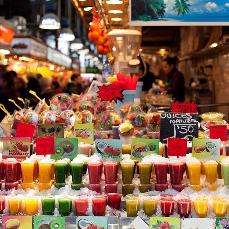 Mercado De La Boqueria Barcelona Frutas Y Verduras Barras De
