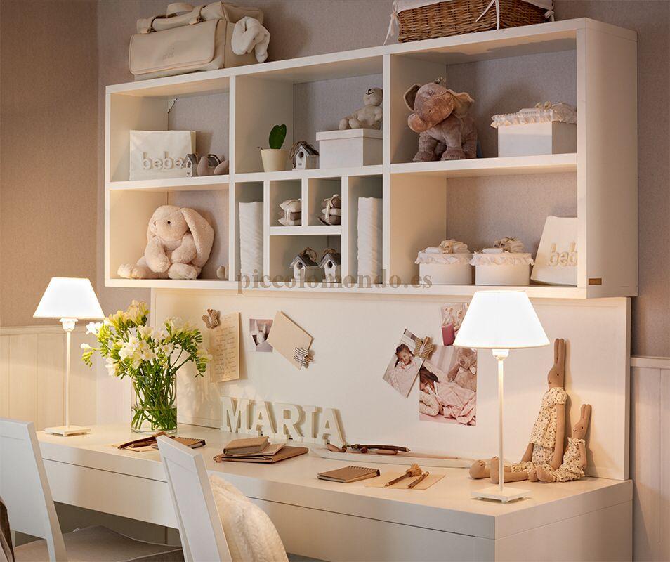 Piccolo mondo muebles cl sicos para beb s y ni os escritorio vicky pinterest - Dormitorios infantiles clasicos ...