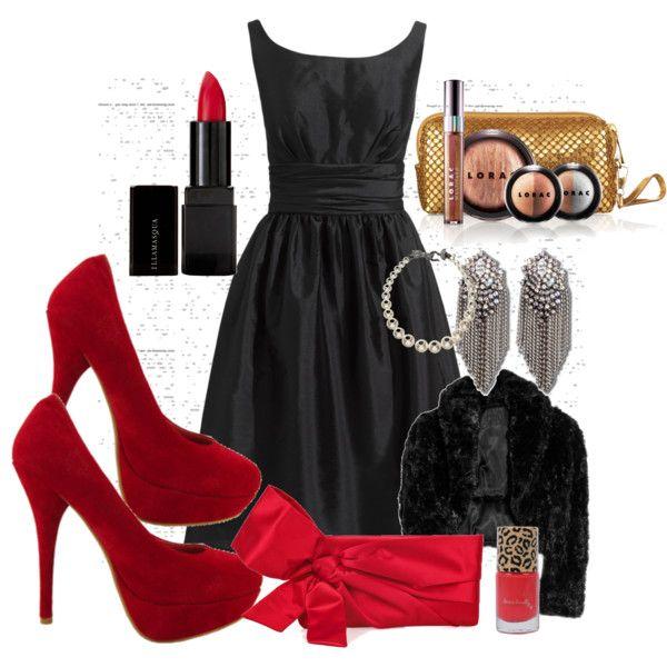 Red High Heel Shoes, Little Black Dress...........