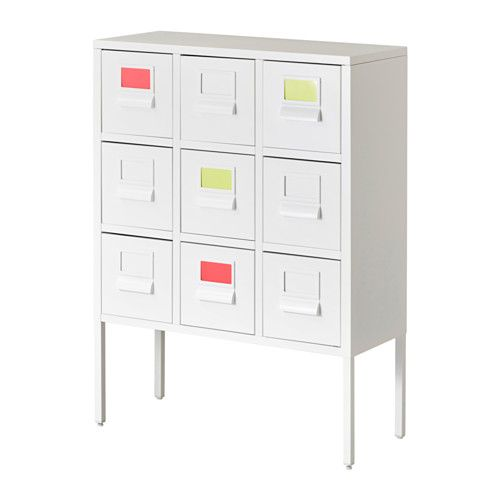 IKEA - SPRUTT, Cabinet with drawers, The included label holder helps you to create an overview to quickly find your things.
