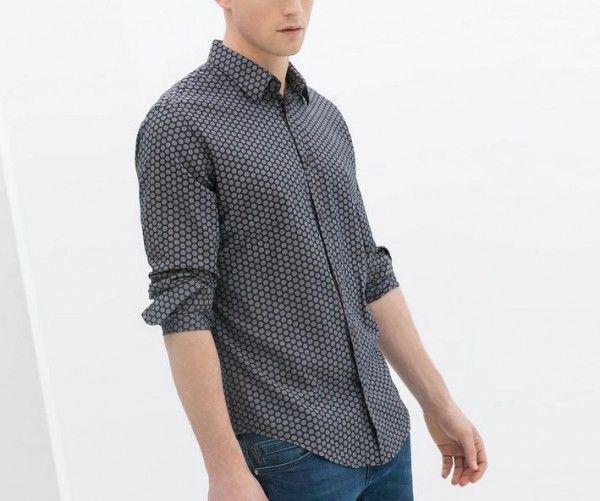 Camicia Zara 2014 Uomo Men's Primavera Pois Collezione Estate XwSFqO