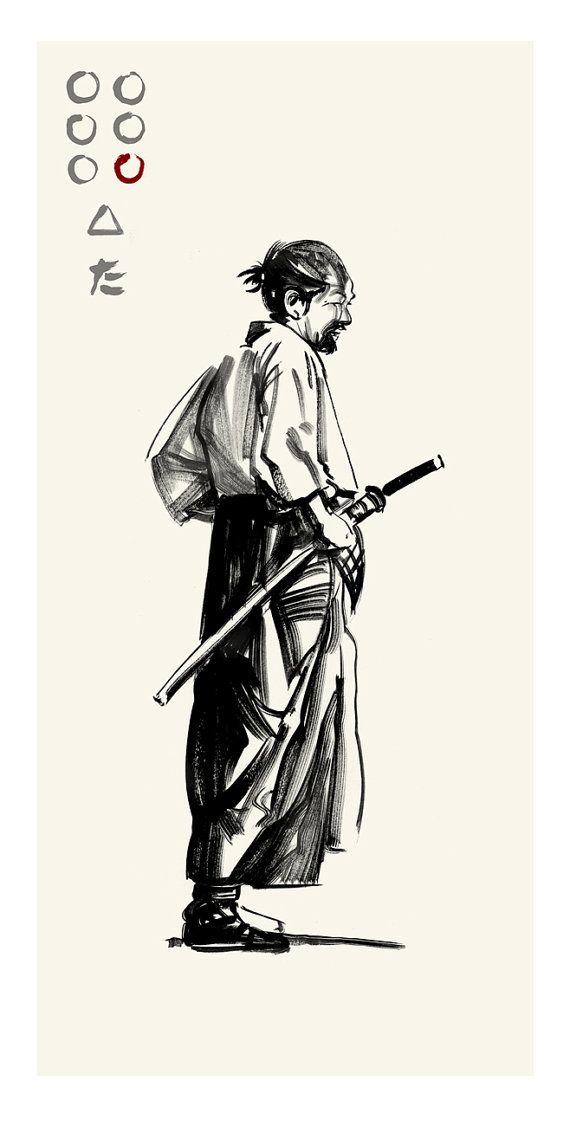 Character Design Course Japan : Akira kurosawa s seven samurai gorobei by greg ruth 기타