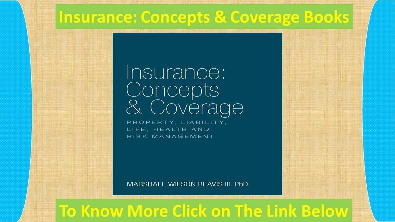 Best insurance concepts book concept of insurance book