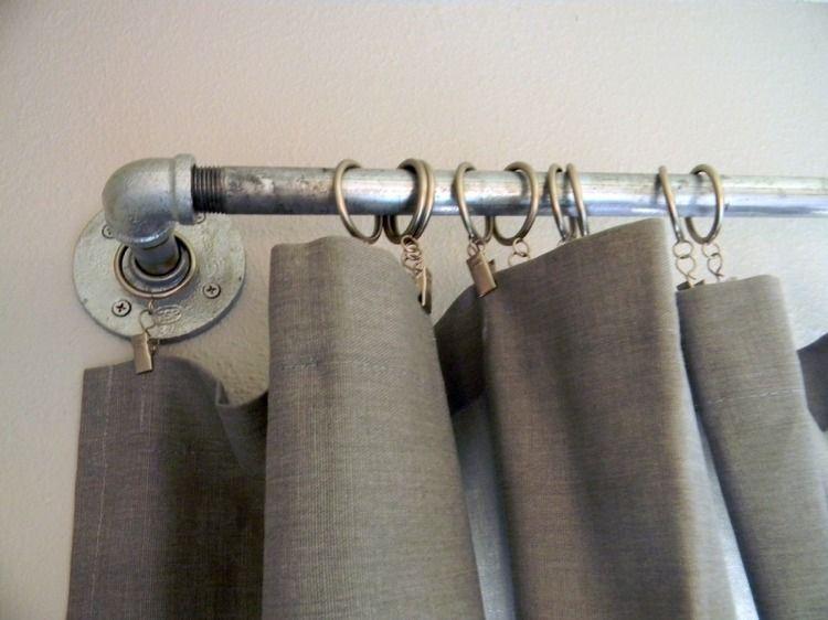 Gardinenstangen Aus Metallrohren Fur Liebhaber Industrial Stils