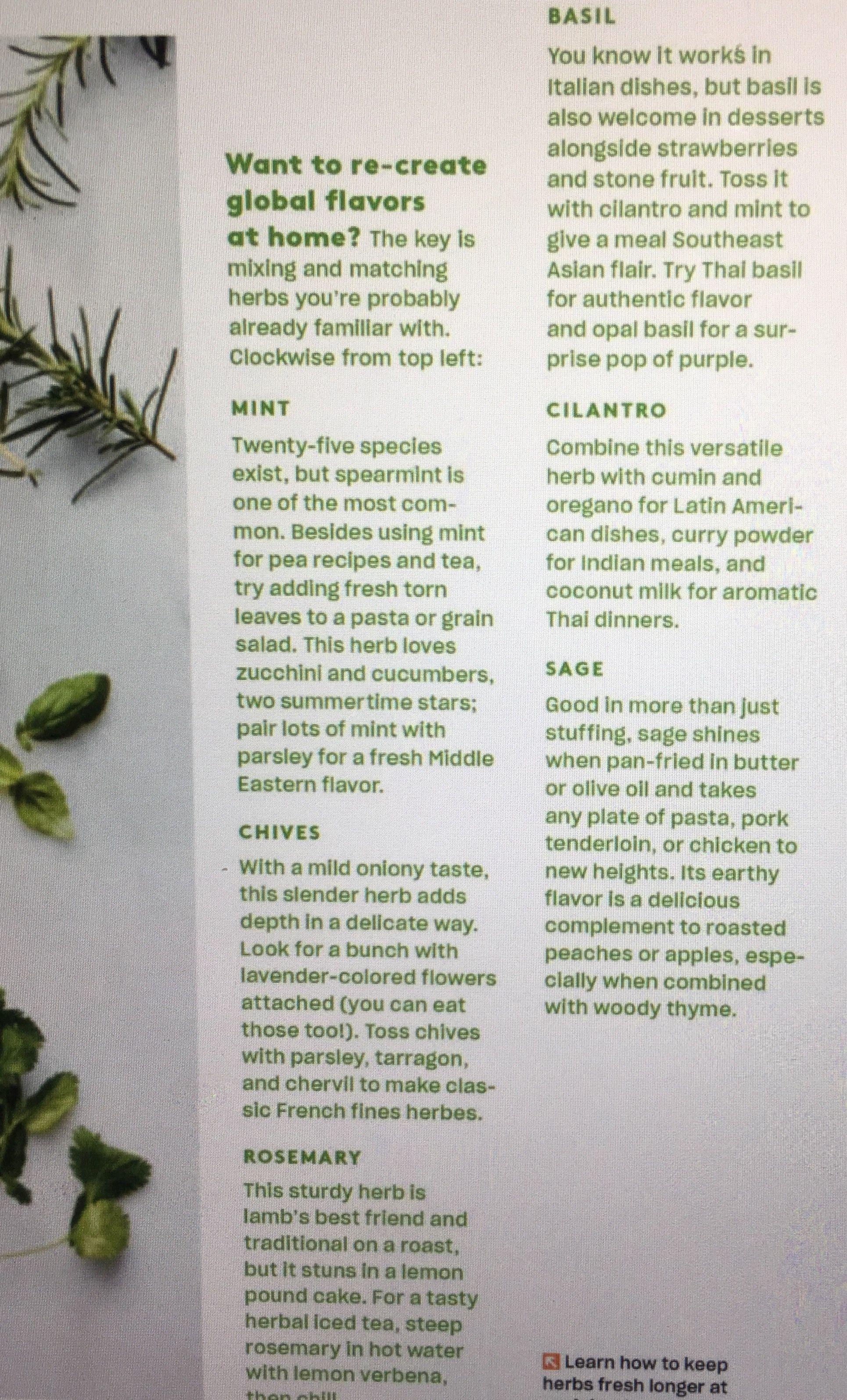 Pin By Bridget Parke On Cooking Odds Ends Global Flavors Basil Herb Stone Fruit