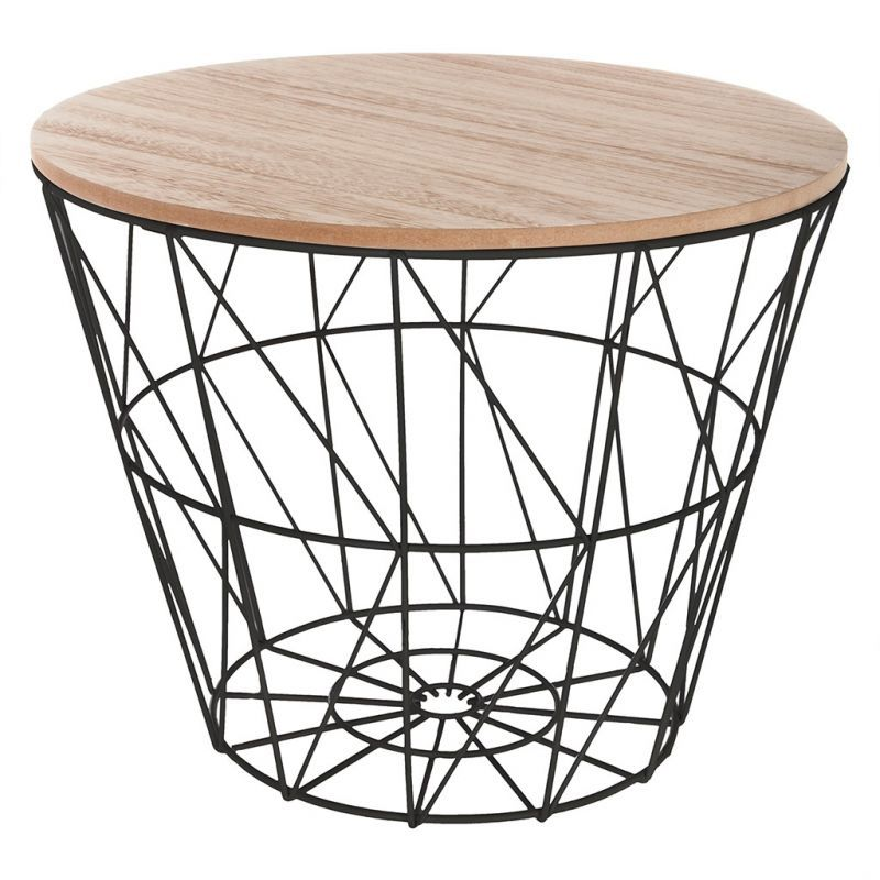 Chevet Kumi Noir D 38 5x30 5cm Bout De Canape Scandinave Bout De Canape Table Basse