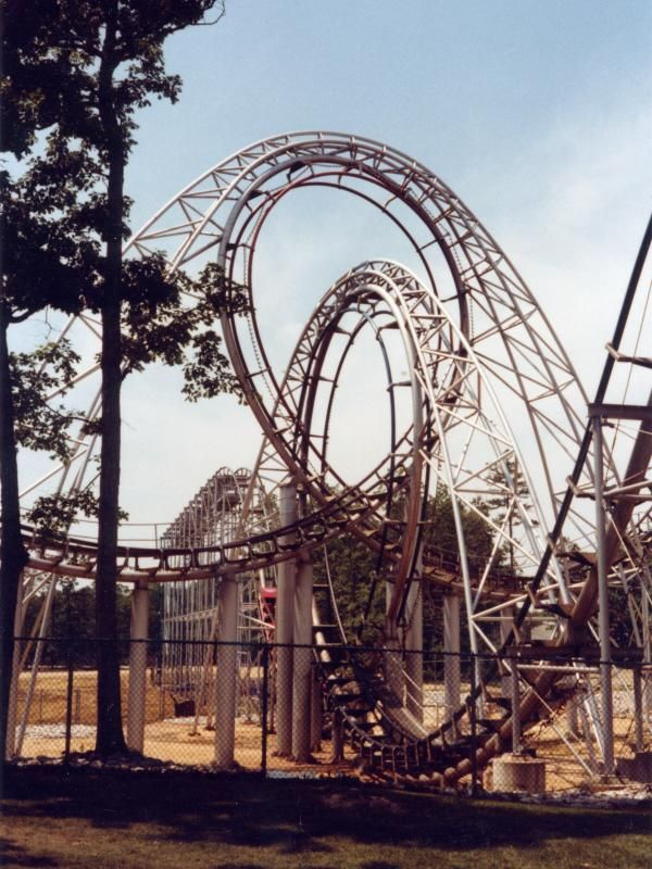 Lightnin Loops Great Adventure Six Flags Great Adventure Amusement Park Rides Roller Coaster
