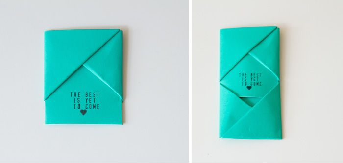 Diy Handkerchief Origami Envelope Someday Wedding Pinterest