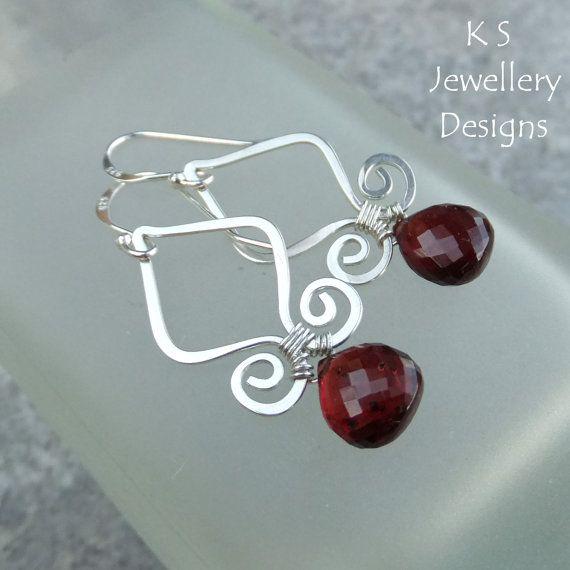 Wire Jewelry Tutorial GENIE DROPS Earrings by KSJewelleryDesigns ...