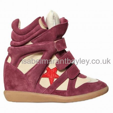 I want a pair of this Isabel Marant Wedge In Wine Bayley Sneakers