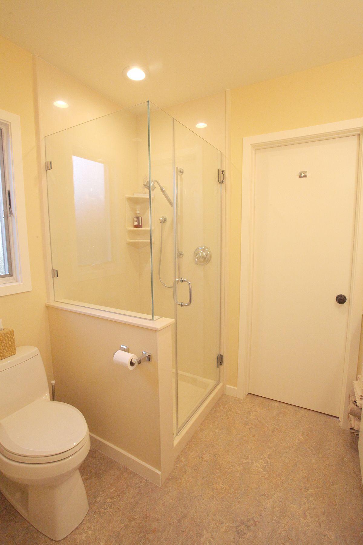 Marmoleum Flooring, Cultured Marble Shower Insert with Custom Fit ...