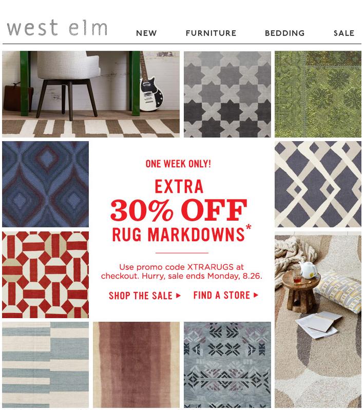 West Elm Grid + Texture Email design inspiration, West elm